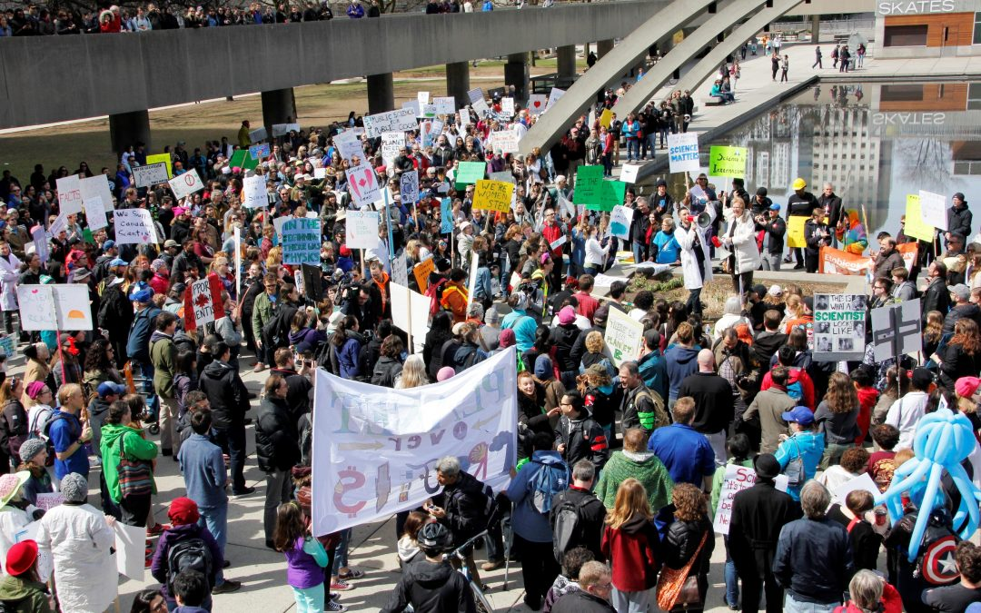 Canadians march for science