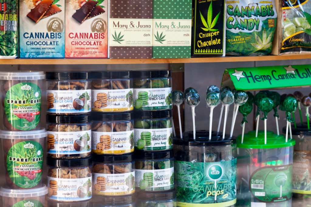 Store display of edible cannabis products